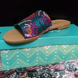 Shoes - Brand New Floral Slides